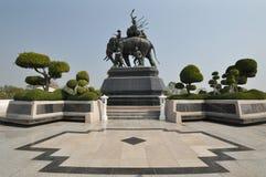 Monumento de Suriyothai Foto de archivo libre de regalías