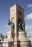Monumento de Taksim de la república Imagen de archivo libre de regalías