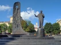 Monumento de Taras Shevchenko em Lviv, Ucrânia Fotografia de Stock