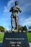 Monumento de Terry Fox, Victoria A.C., Canadá Foto de archivo libre de regalías