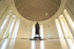 Monumento de Thomas Jefferson en Washington DC Imágenes de archivo libres de regalías