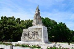 Monumento de Timisoara do soldado romeno foto de stock