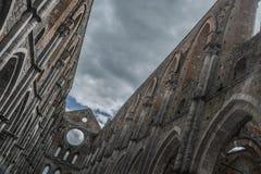 Monumento de Toscana Italia Toscana del galgano del san de la abadía de la iglesia del cielo Fotografía de archivo