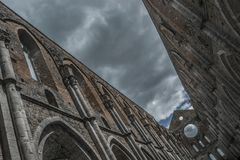Monumento de Toscana Italia Toscana del galgano del san de la abadía de la iglesia del cielo Imagenes de archivo