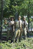 Monumento de três soldados Fotos de Stock Royalty Free