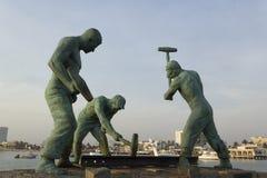 Monumento de trabalhadores de trilho imagens de stock royalty free