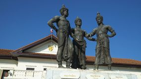 Monumento de tres reyes, Chiang Mai, Tailandia