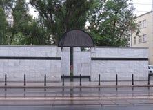 Monumento de Umschlagplatz, Varsóvia Imagem de Stock Royalty Free