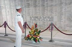 Monumento de USS Arizona Imagen de archivo libre de regalías