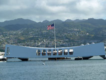 Monumento de USS Arizona del Pearl Harbor imagen de archivo libre de regalías