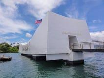 Monumento de USS Arizona en el Pearl Harbor foto de archivo