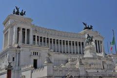 Monumento de Victor Emmanuel ò, praça Venezia, Roma, Itália Fotografia de Stock Royalty Free