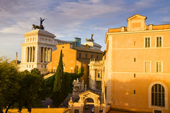 Monumento de Victor Emmanuel II em Roma, Itália Fotografia de Stock Royalty Free