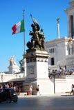 monumento de Vittorio Emanuele II de la plaza - Roma Foto de archivo libre de regalías