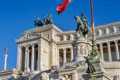 Monumento de Vittorio Emanuele II em Roma Foto de Stock