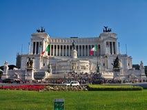 Monumento de Vittorio Emmanuel II, Roma, Itália Imagem de Stock