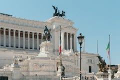 Monumento de Vittorio Manuel imagenes de archivo