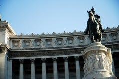 Monumento de Vittorio Manuel Foto de archivo libre de regalías