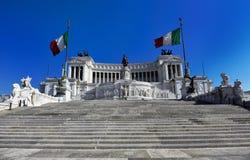 Monumento de Vittorio Manuel II Imagenes de archivo