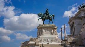 Monumento de Vittorio Manuel II Fotografía de archivo