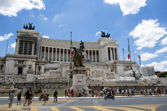 Monumento de Vittorio Manuel II - Roma imágenes de archivo libres de regalías