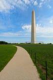 Monumento de Washington en la alameda nacional. Fotos de archivo libres de regalías