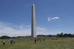 Monumento de Washington en la C Foto de archivo libre de regalías