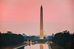 Monumento de Washington Memorial em Washington, C.C. Foto de Stock