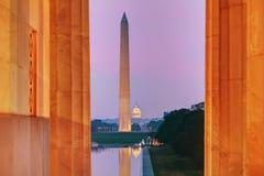 Monumento de Washington Memorial em Washington, C.C. Fotos de Stock Royalty Free