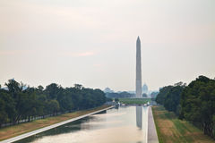 Monumento de Washington Memorial em Washington, C.C. Fotos de Stock Royalty Free