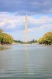 Monumento de Washington y piscina de reflejo foto de archivo libre de regalías