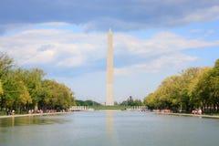 Monumento de Washington y piscina de reflejo imagen de archivo libre de regalías