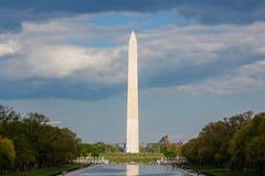 Monumento de Washington y piscina de reflejo imagen de archivo