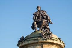 Monumento de William Shakespeare en Stratford-sobre-Avon foto de archivo libre de regalías