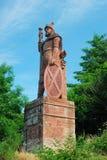 Monumento de William Wallace sobre la abadía de Dryburgh fotografía de archivo libre de regalías