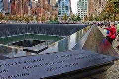 Monumento de WTC 9-11 Foto de archivo libre de regalías