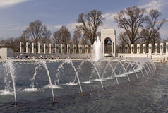 Monumento de WWII en Washington, C.C. imágenes de archivo libres de regalías