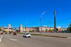Monumento de Yuri Gagarin - Moscou Rússia foto de stock royalty free