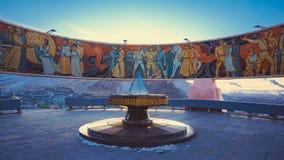 Monumento de Zaisan em Ulan Bator mongolia fotografia de stock