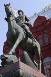 Monumento de Zhukov del mariscal en Moscú Fotos de archivo