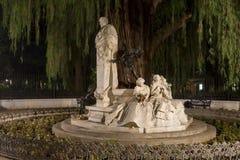 Monumento dedicado al poeta Gustavo Adolfo Bcquer en Sevilla Imagenes de archivo