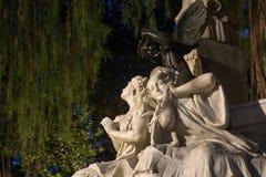 Monumento dedicado al poeta Gustavo Adolfo Bcquer en Sevilla Foto de archivo