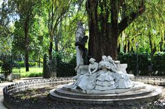 Monumento dedicado al poeta Gustavo Adolfo Becquer Foto de archivo