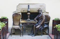 Monumento dedicado de las lámparas de keroseno de los inventores Imágenes de archivo libres de regalías