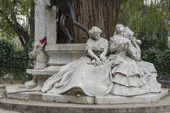 Monumento dedicato al poeta Gustavo Adolfo Bcquer in Siviglia Fotografia Stock Libera da Diritti