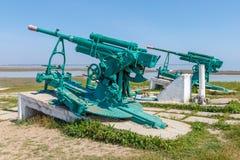Monumento degli artiglieri contraerei che hanno difeso la Crimea Fotografie Stock Libere da Diritti