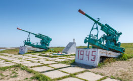 Monumento degli artiglieri contraerei che hanno difeso la Crimea Fotografia Stock Libera da Diritti