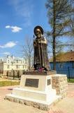 Monumento del abad Cornelio, monasterio de las Pskov-cuevas Fotografía de archivo