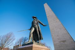 Monumento del Bunker Hill en Boston, Massachusettsin foto de archivo
