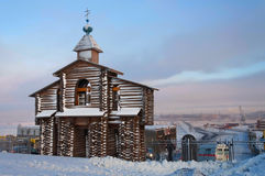 Monumento del campanario de una iglesia de la entrada de información Foto de archivo libre de regalías